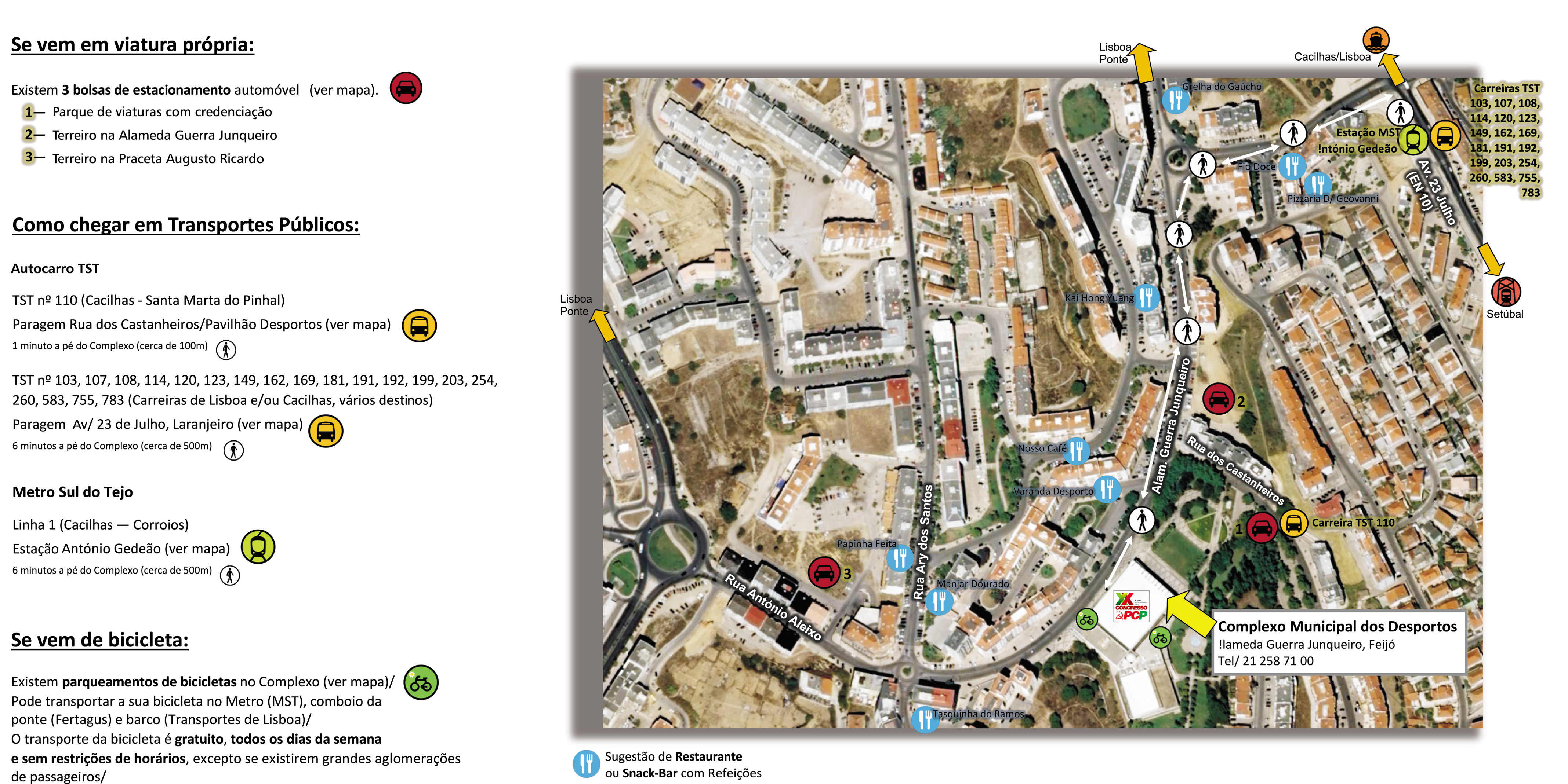 av guerra junqueiro lisboa mapa Jornal «Avante!»   Em Foco   Acessos e transportes av guerra junqueiro lisboa mapa
